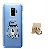 Недорогие Чехлы и кейсы для Galaxy S9 Plus-Кейс для Назначение SSamsung Galaxy S9 Plus / S9 С узором Кейс на заднюю панель Кот Мягкий ТПУ для S9 / S9 Plus