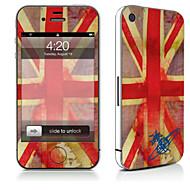 Недорогие Защитные плёнки для экрана iPhone-1 ед. Наклейки для Защита от царапин Флаг Узор PVC iPhone 4/4S