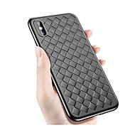 Недорогие Кейсы для iPhone 8 Plus-Кейс для Назначение Apple iPhone X iPhone 8 Защита от удара Ультратонкий Кейс на заднюю панель Однотонный Плитка Геометрический рисунок