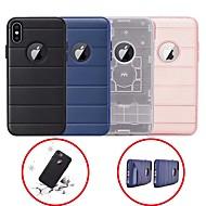 Недорогие Кейсы для iPhone 8 Plus-Кейс для Назначение Apple iPhone 6 / iPhone 7 Plus Защита от удара / со стендом Кейс на заднюю панель Однотонный Твердый Силикон для