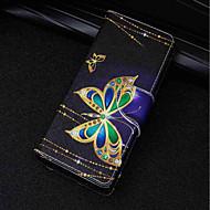 voordelige Mobiele telefoonhoesjes-hoesje Voor Huawei P20 lite / P20 Kaarthouder / Portemonnee / met standaard Volledig hoesje Vlinder Hard PU-nahka voor Huawei P20 lite /
