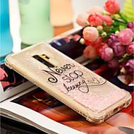 Недорогие Чехлы и кейсы для Galaxy S8 Plus-Кейс для Назначение SSamsung Galaxy S9 Plus / S9 Защита от удара / Движущаяся жидкость / С узором Кейс на заднюю панель Слова / выражения