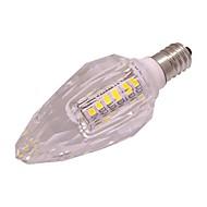 お買い得  LED キャンドルライト-1個 3W 260lm E14 LEDキャンドルライト T 40 LEDビーズ SMD 2835 温白色 / クールホワイト 220-240V