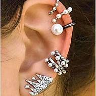 cheap -Women's Bohemian Clip Earrings / Ear Cuff - Metallic / Bohemian / Ethnic Silver Geometric Earrings For Evening Party / Street / Women's