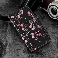 preiswerte Handyhüllen-Hülle Für Wiko WIKO Sunny 2 plus Geldbeutel / Kreditkartenfächer / mit Halterung Ganzkörper-Gehäuse Blume Hart PU-Leder für Wiko View prime / Wiko Lenny 4 PLUS