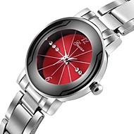 hesapli Elbise Saatleri-Erkek Elbise Saat Çince Kronograf / Yaratıcı / Büyük Kadran Paslanmaz Çelik Bant Lüks Gümüş