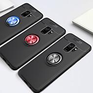 Недорогие Чехлы и кейсы для Galaxy S8 Plus-Кейс для Назначение SSamsung Galaxy S9 / S8 Кольца-держатели Кейс на заднюю панель Однотонный Мягкий ТПУ для S9 Plus / S9 / S8 Plus