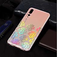 お買い得  携帯電話ケース-ケース 用途 Huawei P20 lite / P20 メッキ仕上げ / パターン バックカバー レース印刷 ソフト TPU のために Huawei P20 lite / Huawei P20 Pro / Huawei P20