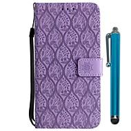 Недорогие Чехлы и кейсы для Galaxy S8 Plus-Кейс для Назначение SSamsung Galaxy S9 Plus / S9 Кошелек / Бумажник для карт / со стендом Чехол Цветы Твердый Кожа PU для S9 / S9 Plus /