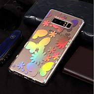 Недорогие Чехлы и кейсы для Galaxy Note 8-Кейс для Назначение SSamsung Galaxy Note 8 Покрытие / С узором Кейс на заднюю панель Бабочка Мягкий ТПУ для Note 8