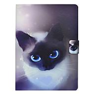 Недорогие Чехлы и кейсы для Galaxy Tab 3 10.1-Кейс для Назначение SSamsung Galaxy Tab 3 10.1 Бумажник для карт Защита от удара со стендом Флип Чехол Кот Твердый Кожа PU для Tab 3 10.1