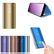 preiswerte Handyhüllen-Hülle Für Huawei P20 lite P20 mit Halterung Beschichtung Spiegel Ganzkörper-Gehäuse Solide Hart PU-Leder für Huawei P20 lite Huawei P20