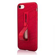 Недорогие Кейсы для iPhone 8 Plus-Кейс для Назначение Apple iPhone X / iPhone 8 со стендом / Сияние и блеск Кейс на заднюю панель Однотонный / Сияние и блеск Мягкий ТПУ для