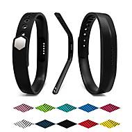 Недорогие Аксессуары для смарт-часов-Ремешок для часов для Fitbit Flex 2 Fitbit Спортивный ремешок силиконовый Повязка на запястье