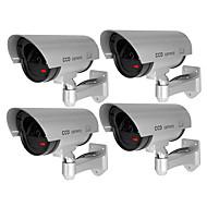 お買い得  -veskys®4pcs / set防水屋外セキュリティ偽監視カメラcctvセキュリティシミュレーションカメラフラッシュwebcam home shop business garage