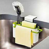 abordables Organización de encimera y pared-Organización de cocina Repisas y Soportes Plástico Nuevo diseño / Almacenamiento / Fácil de Usar 1pc