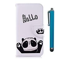 preiswerte Handyhüllen-Hülle Für Huawei Y9 (2018)(Enjoy 8 Plus) / Y6 (2017)(Nova Young) Geldbeutel / Kreditkartenfächer / mit Halterung Ganzkörper-Gehäuse Panda