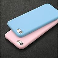 Недорогие Кейсы для iPhone 8-Кейс для Назначение Apple iPhone X / iPhone 6 Ультратонкий Кейс на заднюю панель Однотонный Мягкий ТПУ для iPhone X / iPhone 8 Pluss /