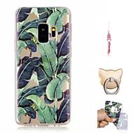 Недорогие Чехлы и кейсы для Galaxy S9 Plus-Кейс для Назначение SSamsung Galaxy S9 Plus / S9 С узором Кейс на заднюю панель дерево Мягкий ТПУ для S9 / S9 Plus