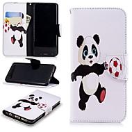 Недорогие Чехлы и кейсы для Galaxy S-Кейс для Назначение SSamsung Galaxy S9 Кошелек / Бумажник для карт / со стендом Чехол Панда Твердый Кожа PU для S9