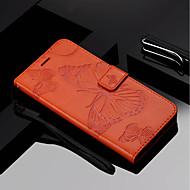 お買い得  携帯電話ケース-ケース 用途 Huawei Mate 10 pro / Mate 10 lite ウォレット / カードホルダー / スタンド付き フルボディーケース バタフライ ハード PUレザー のために Mate 10 / Mate 10 pro / Mate 10 lite