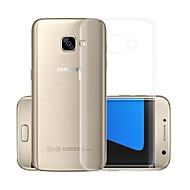Недорогие Чехлы и кейсы для Galaxy А-Кейс для Назначение SSamsung Galaxy A5(2017) Прозрачный Кейс на заднюю панель Однотонный Мягкий ТПУ для A5 (2017)