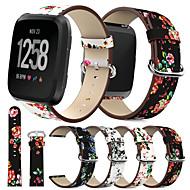 Ремешок для часов для Fitbit Versa Fitbit Классическая застежка Натуральная кожа Повязка на запястье