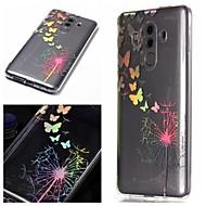 お買い得  携帯電話ケース-ケース 用途 Huawei P20 / P20 lite パターン バックカバー タンポポ / カラーグラデーション ソフト TPU のために Huawei P20 / Huawei P20 lite