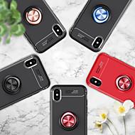 Недорогие Кейсы для iPhone 8-Кейс для Назначение Apple iPhone X / iPhone 6 Кольца-держатели Кейс на заднюю панель Однотонный Мягкий ТПУ для iPhone X / iPhone 8 Pluss