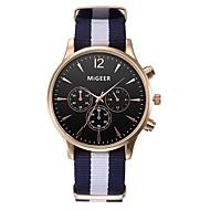 abordables Relojes de Moda-Hombre Mujer Cuarzo Reloj de Moda Reloj Casual Chino Cronógrafo Tejido Banda Elegant Negro Blanco Azul Rojo