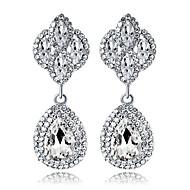 billige Smykker & Ure-Krystal Lysestage Dråbeøreringe - Dråbe Mode, Elegant Sølv Til Bryllup Fest / aften