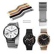 Недорогие Аксессуары для смарт-часов-Ремешок для часов для Huawei Watch Huawei Миланский ремешок Нержавеющая сталь Повязка на запястье