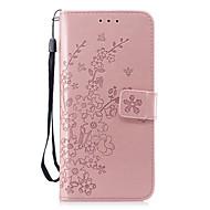 Недорогие Чехлы и кейсы для Galaxy S8 Plus-Кейс для Назначение SSamsung Galaxy S9 / S9 Plus Кошелек / со стендом / Флип Чехол Цветы Твердый Кожа PU для S9 Plus / S9 / S8 Plus