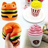 お買い得  -MINGYUAN ポップコーン / ミルクボックス / ハンバーガー オフィスデスクのおもちゃ / 減圧玩具 / かわいい フリーサイズ 成人 / 青少年 ギフト 3pcs