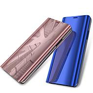 Недорогие Чехлы и кейсы для Galaxy A3(2017)-Кейс для Назначение SSamsung Galaxy A6+ (2018) / A6 (2018) со стендом / Покрытие / Зеркальная поверхность Чехол Однотонный Твердый Кожа PU