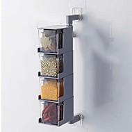 abordables Especieras-Organización de cocina Cocteleras y trituradores Plástico El modelo geométrico / Cuerpo transparente 1pc