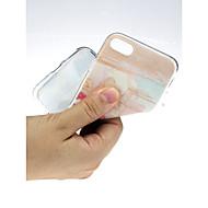Недорогие Кейсы для iPhone 8 Plus-Кейс для Назначение Apple iPhone X / iPhone 7 Ультратонкий / С узором / Милый Кейс на заднюю панель Пейзаж Мягкий ТПУ для iPhone X /