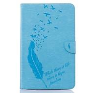 Недорогие Чехлы и кейсы для Samsung Tab-Кейс для Назначение SSamsung Galaxy Tab E 9.6 Бумажник для карт Кошелек со стендом С узором Авто Режим сна / Пробуждение Чехол Перья