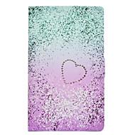 Недорогие Чехлы и кейсы для Galaxy Tab E 9.6-Кейс для Назначение SSamsung Galaxy Tab E 9.6 Бумажник для карт / Защита от удара / со стендом Чехол С сердцем Твердый Кожа PU для Tab E 9.6