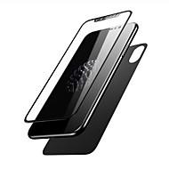 Недорогие Защитные плёнки для экрана iPhone-Защитная плёнка для экрана для Apple iPhone X Закаленное стекло 2 штs Защитная пленка для экрана и задней панели 3D закругленные углы /