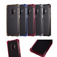Недорогие Чехлы и кейсы для Galaxy S9 Plus-Кейс для Назначение SSamsung Galaxy S9 / S9 Plus Защита от удара Кейс на заднюю панель Однотонный Твердый ТПУ / Акрил для S9 Plus / S9