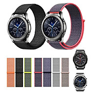 Недорогие Аксессуары для смарт-часов-Ремешок для часов для Gear S3 Frontier / Gear S3 Classic Samsung Galaxy Современная застежка Нейлон Повязка на запястье