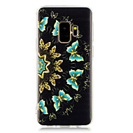 Недорогие Чехлы и кейсы для Galaxy S8 Plus-Кейс для Назначение SSamsung Galaxy S9 Plus / S8 Plus С узором Кейс на заднюю панель Бабочка Мягкий ТПУ для S9 Plus / S9 / S8 Plus