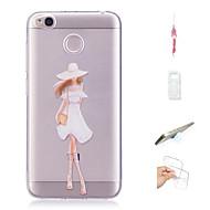 preiswerte Handyhüllen-Hülle Für Xiaomi Redmi 4X Muster Rückseite Sexy Lady Weich TPU für Xiaomi Redmi 4X