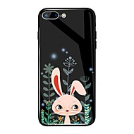 Недорогие Кейсы для iPhone 8 Plus-Кейс для Назначение Apple iPhone X / iPhone 8 Plus Зеркальная поверхность / С узором Кейс на заднюю панель Животное / Мультипликация Твердый Закаленное стекло для iPhone X / iPhone 8 Pluss / iPhone 8