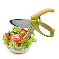 お買い得  キッチン用小物-トスとチョップサラダはさみトングフルーツ野菜カッターキッチンツール