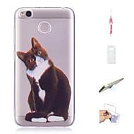 preiswerte Handyhüllen-Hülle Für Xiaomi Redmi 4X Muster Rückseite Katze Weich TPU für Xiaomi Redmi 4X