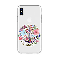 cheap -Case For Apple iPhone X / iPhone 8 Plus Pattern Back Cover Flower Soft TPU for iPhone X / iPhone 8 Plus / iPhone 8