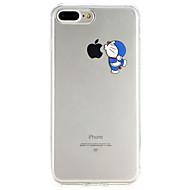 Недорогие Кейсы для iPhone 8 Plus-Кейс для Назначение Apple iPhone X / iPhone 8 Ультратонкий Кейс на заднюю панель Мультипликация Мягкий ТПУ для iPhone X / iPhone 8 Pluss / iPhone 8