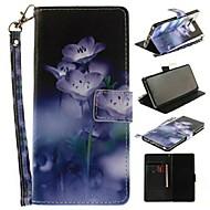 Недорогие Чехлы и кейсы для Galaxy Note-Кейс для Назначение SSamsung Galaxy Note 8 Кошелек / Бумажник для карт / со стендом Чехол Цветы Твердый Кожа PU для Note 8